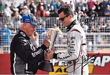 Dick Johnson & Garth Tander SIGNED 12x8 Aussie V8 Driver & Team Entrant