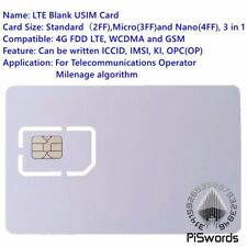SIM USIM Card 4G LTE WCDMA GSM Blank Mini Nano micro writable programable SIM Ca