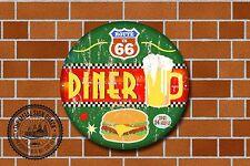 Route 66 restaurante Letrero De Metal, coches, American, gas, Clásico, decoración de garaje, 966