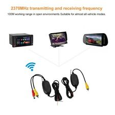 2.4G Wireless Transmitter Receiver Kit For Car Backup Reverse Camera Monitor