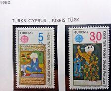 2 X Timbre Stamp Chypre turc Turk Cyprus Kibris Türk 1980 YT 73 74 Europa CEPT