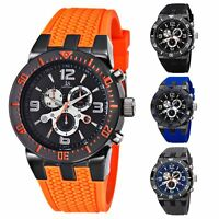 Men's Joshua & Sons JS55 Swiss Quartz Chronograph Silicone Strap Watch
