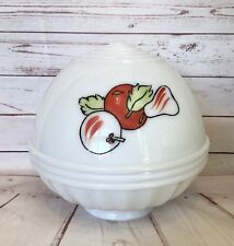 Vintage Retro 50s  Kitchen Ceiling Light Cover Shade White Glass Fruit Graphics