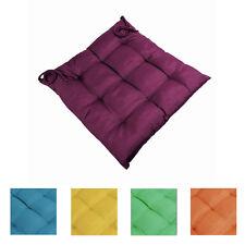 Sitzkissen 40x40cm mit 9-Punktsteppung Stuhlkissen Baumwollmischung tolle Farben
