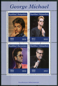 Madagascar 2019 CTO George Michael 4v M/S Music Celebrities People Stamps