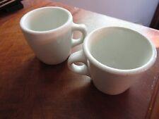 2 Ironstone antique vintage coffee mugs: McNicol china, Carr china