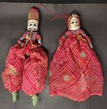 Vintage Wooden Cloth Doll Tribal God Goddess Statue Puppet Figure Hand Painted