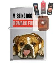 Zippo 200 Missing Dog Wife Reward Lighter + FUEL FLINT WICK POUCH GIFT SET