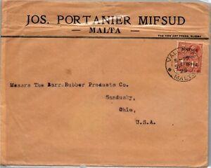 GP GOLDPATH: MALTA COVER 1929 _CV699_P16