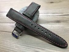 Handmade Vintage Raw Brown Leather Watch Strap, watch band for 18mm/19mm/20mm