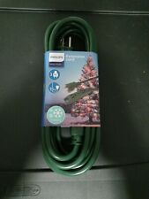 Philips 15ft - 3-Outlet Grounded Extension Cord Outdoor Use, Green-New