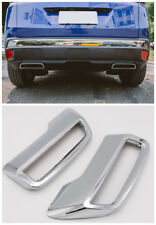 ABS Chrome Rear Tail Exhaust Cover Trim 2pcs For Peugeot 3008 / 5008 2017- 2018