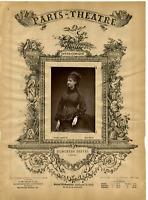 Lemercier, Paris Theatre, Hyacinthe Derval vintage print Photoglyptie  9x13