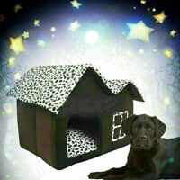 Indoor Pet Dog House Bed Kennel Puppy Cat Cabin Cushion Mat Super Pad New F V4Y0