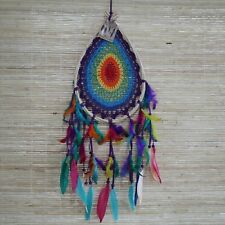 Medium Macrame Rainbow Teardrop Dreamcatcher - Dream Catcher
