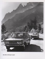 Fiat 125 and Fiat 124 Sport Coupe Large Format Period Press Photograph