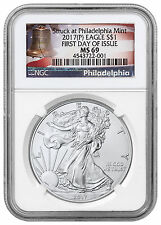 2017-(P) American Silver Eagle NGC MS69 First Day Issue (Liberty Bell) SKU47244