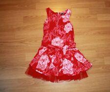 26123949993 FLORIANE   robe rouge imprimée - Taille 6 ans