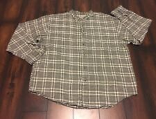 Northwest Territory Men's Banded Collar Flannel Shirt XXL L/S Cotton Blend