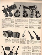 1958 PAPER AD Kay Brand Guitar Hawaiian Electric Spanish Banjo Violin Barclay
