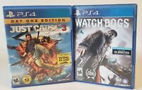 Ps4 video game lot bundle. Just cause 3 day one edition &  Watch dogs.