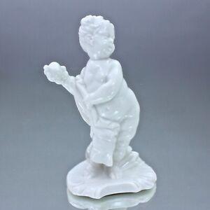 Nymphenburg: Putten als Götter, Pandora, Putto, Franz Anton Bustelli Figur weiss