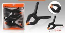Lote 4 Pinzas de apriete de presión ergonómico Mordazas elastica 15 cm