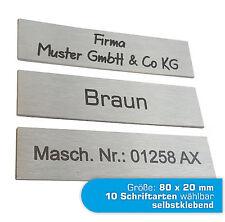 Edelstahl Briefkastenschild Türschild Klingelschild VA-Schild mit Gravur TOP(JL)