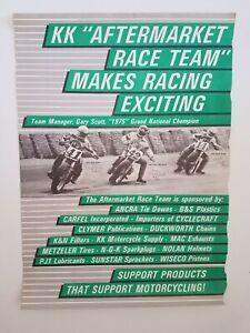 Vintage Original Poster 1986 Flat Track Harley Davidson Steve Morehead Autograph