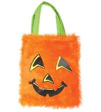 Halloween Kinder Stofftasche Betteltasch Sammeltasche Süßigkeiten Kürbis 25x30cm