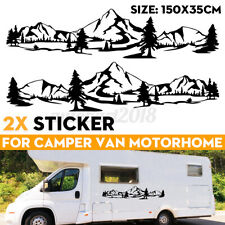 For Camper Caravan Side Body Decal Sticker Mountain Forest Style Decals Graphics