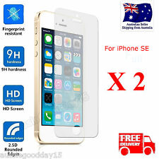 Full Coverage Tempered Glass Screen Protector Film For iPhone SE 5C 5S 5X 2 Pack