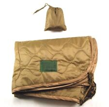 Military Coyote Brown Wet Weather Waterproof Poncho & Liner Camping Shelter