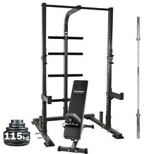 Ironmaster IM1500 Half Rack System PACKAGE // Barbell Weights Bench Home Gym Set