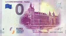 BILLET 0 EURO LA CONCIERGERIE PARIS FRANCE 2019-2 NUMERO DIVERS