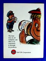 "1960 Gulf Oil Tin Can Telephone RARE Regional Original Print Ad 8.5 x 11"""