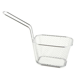 Rectangle Stainless Steel Wide Mesh Strainer Kitchen Colander Sieve Sifter