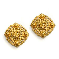 Oversized Gold Medallion Earrings *Price Reduced!* Christian Dior