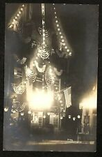 RPPC HARPEL  5-142 NIGHT VIEW LIGHTS AND FLAG BUNTING LEBANON, PA