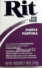 Rit Fabric Dye Powder - PURPLE - 1 1/8 oz Tie Dying, Quilts, Fabric