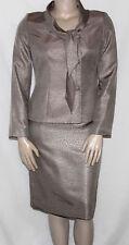 Le Suit NEW Tie-Collar Shantung Jacket & Skirt Suit REG 16