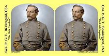 General  Beauregard Confederate Civil War SV Stereoview Stereocard 3D 4176424807