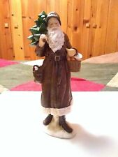 "Raz Imports 16""  Santa with Basket, Bag of Gifts, and Christmas Tree"