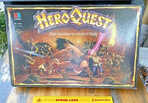 VINTAGE HEROQUEST HIGH ADVENTURES IN A WORLD OF MAGIC GAMES WORKSHOP BOARD GAME!