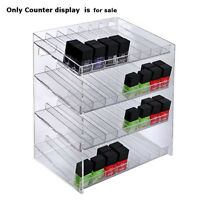 Retail 4-tiered 32 Compartment Cosmetic Counter Display for Pegboard or Slatwall