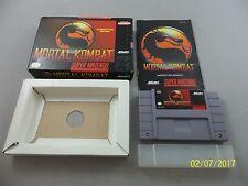 Mortal Kombat 1 Competition Edition Super Nintendo SNES Game Complete CIB