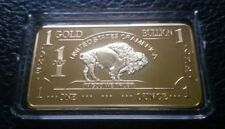 1 OZ 500 Millls .999 Fine Gold Buffalo Bar Bullion CHRSITMAS SALE!!