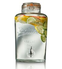 Vintage Jar Glass Drink Dispenser Beverage Serving Ice Cold Water Stand Party