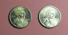 2 Coins Sacagawea One Dollar Liberty Coin 2000 P Philadelphia KM# 310 Schön# 310