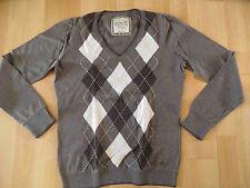 ESPRIT schöner Pullover im Rautenmuster taupe Gr. L TOP SH416